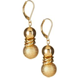 Bay Studio Gold Tone Diamond Dust Drop Earrings