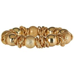 Bay Studio Gold Tone Diamond Dust Bracelet