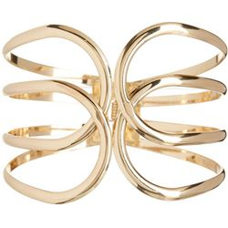 Bay Studio Gold Tone Open Loop Cuff Bracelet