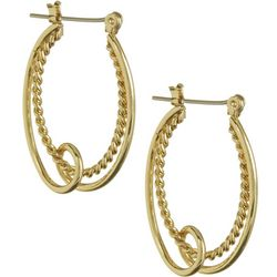 Bay Studio Gold Tone Double Oval Hoop Earrings