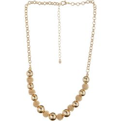 Bay Studio Gold Tone Short Beehive Necklace