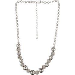 Bay Studio Silver Tone Short Beehive Necklace