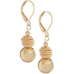 Bay Studio Gold Tone Beehive Ball Drop Earrings