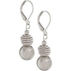 Bay Studio Silver Tone Beehive Ball Drop Earrings