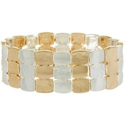 Bay Studio Two Tone Small Link Stretch Bracelet