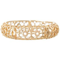 Bay Studio Circle Cutout Gold Tone Stretch Bracelet