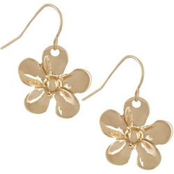 Bay Studio Gold Tone Flower Drop Earrings