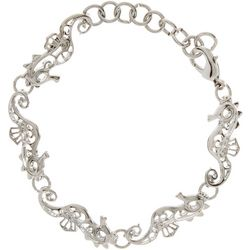 Bay Studio Filigree Seahorse Link Bracelet