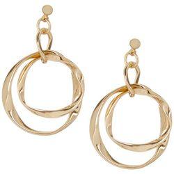 Bay Studio Gold Tone Double Twist Hoop Earrings