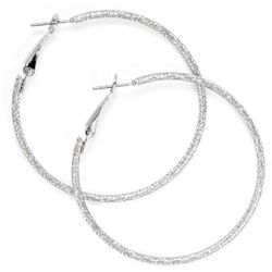 Bay Studio Large Etched Clutch Hoop Earrings