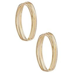 Bay Studio Twisted Gold Tone Oval Post Earrings