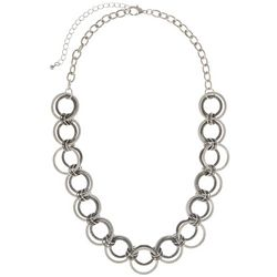 Bay Studio Two Tone Multi Ring Frontal Necklace