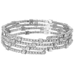 Bay Studio Crystal 4 Row Coil Bracelet