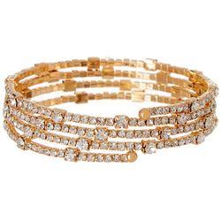 Bay Studio Gold Tone Crystal Coil Bracelet