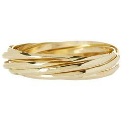 Bay Studio Gold Tone Multi Row Bangle Bracelet Set