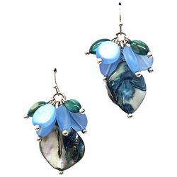 Bay Studio Blue Shell Nugget Drop Earrings