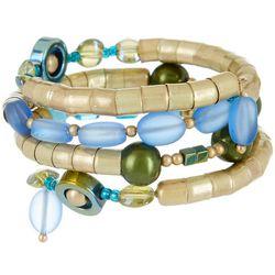 Bay Studio Gold Tone Beaded Coil Bracelet