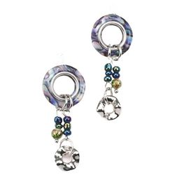 Bay Studio Blue Multi Ring Bead Drop Earrings