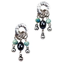 Bay Studio Ring Post Top Bead Drop Earrings