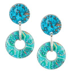 Bay Studio Turquoise Door Knocker Drop Earrings