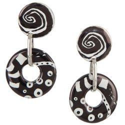 Bay Studio Abstract Door Knocker Drop Earrings