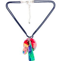 Bay Studio Multi Enamel Pendant Dangle Necklace