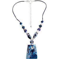 Bay Studio Blue Bead & Enamel Pendant Necklace