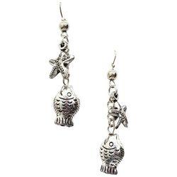 Bay Studio Linear Starfish & Fish Dangle Earrings