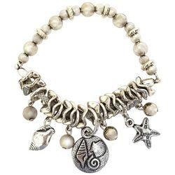 Bay Studio Coastal Bead & Charm Stretch Bracelet