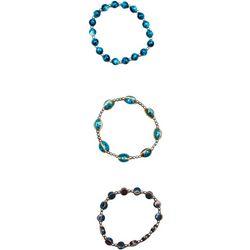 Bay Studio 3 Pc Multi Beaded Stretch Bracelet Set
