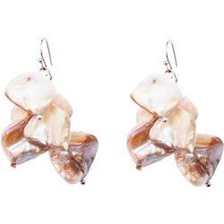 Bay Studio Genuine Shell Nugget Cluster Earrings