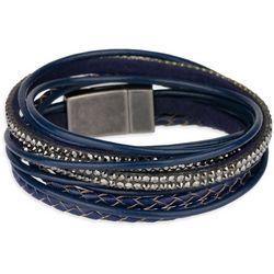 Navy Double Wrap Multi Row Bracelet