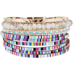 SAACHI Multi Colored Leather & Bead Bracelet