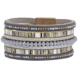 SAACHI Embellished Grey Corded Bracelet