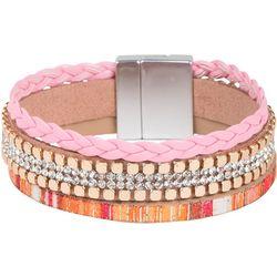 SAACHI Pink Multi Bonaire Magnetic Strap Bracelet
