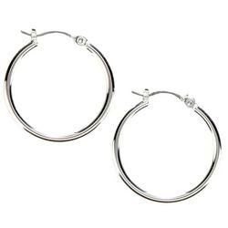 Nine West Silver Tone Small Hoop Earrings