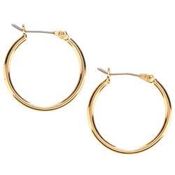 Nine West Small Gold Tone Hoop Earrings
