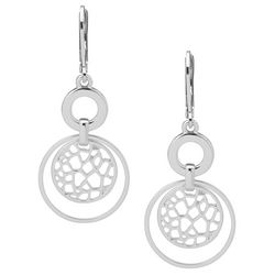 Nine West Cut Out Double Disc Drop Earrings