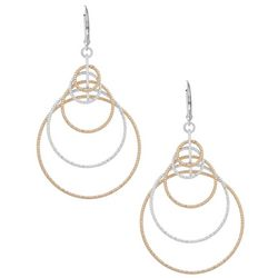 Nine West Two Tone Orbital Ring Earrings