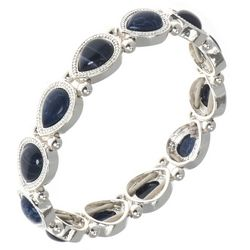 Nine West Denim Blue Link Stretch Bracelet