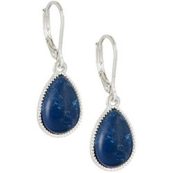 Nine West Denim Blue Teardrop Earrings