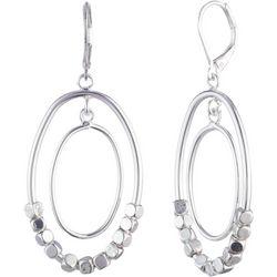 Nine West Beaded 2 Row Ring Orbital Earrings