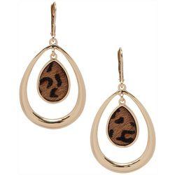 Nine West Cheetah Print Teardrop Earrings