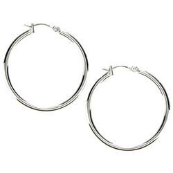 Nine West Silver Tone Hoop Earrings