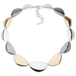 Nine West Tri-Tone Collar Necklace