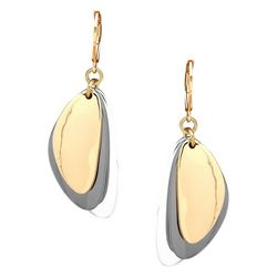 Nine West Tri-Tone Triangle Drop Earrings