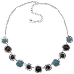 Chaps Small Flower Frontal Necklace