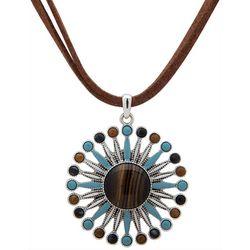 Chaps Large Flower Pendant Necklace