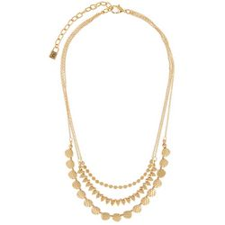 Chaps Multi Row Layered Frontal Necklace