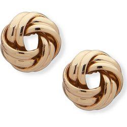 Chaps Gold Tone Love Knot Stud Earrings